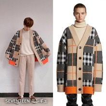 [TRUNKPROJECT] TARTAN WOOL CARDIGAN JACKET_SEVENTEEN
