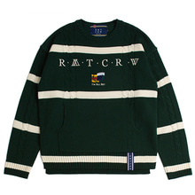 [ROMANTICCROWN] ROUND NECK CABLE KNIT GREEN_SEVENTEENスングァン