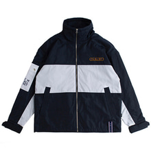 [ROMANTICCROWN] DRAWFIT RACING JACKET NAVY