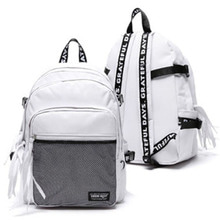 3D MESH BACK PACK WHITE