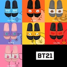 [BT21] CHARACTER FACE SLIPPERS 7COLORS_BTS