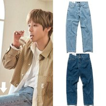 [BOWLS]#B200/202 straight washing jeans 2COLOR_WANNAONEパクジフン