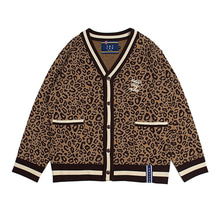 [ROMANTICCROWN] LEOPARD KNIT CARDIGAN BROWN_JBJ95