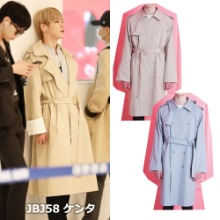 [WAIKEI] SLEEVE ROLL UP HOOD TRENCH COAT 2COLORS_JBJ95
