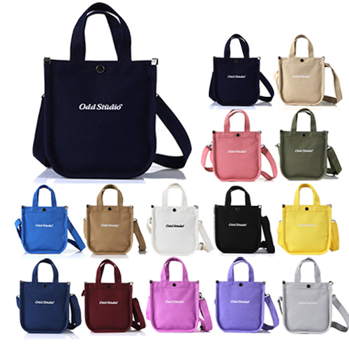 [ODDSTUDIO] EMBROIDERY LOGO MINI CROSS BAG 14COLOR