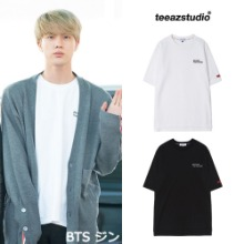 [TEEAZ]BEYOND LETTERING LAYERED 1/2 Round Tee_BTS