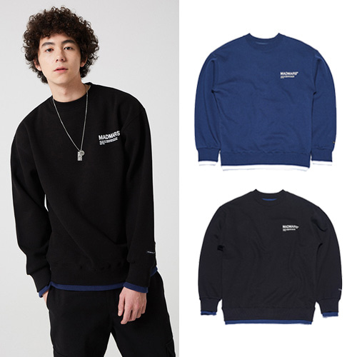 [MADMARS] LAYERED LOGO SWEATSHIRT 2COLOR