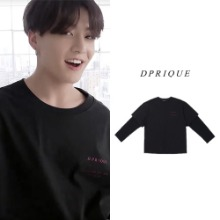 [D.PRIQUE] OVERSIZED LAYERED T-SHIRT BLACK_BTS