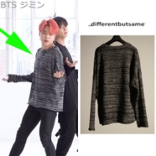 [10/17予約発送][DIFFERENTBUTSAME] EMROIDERY KNIT_BTS