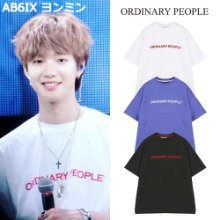 [ORDINARY PEOPLE] ORDINARY CUTTING DETAIL T-SHIRT 3COLOR_AB6IX NUEST IKON