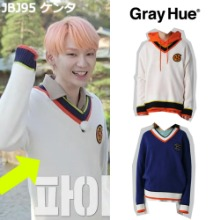 [GRAY HUE] CREST CRICKET SWEATER 2COLOR_JBJ95