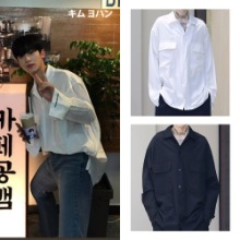 [MASSNOUN] SB TWO POCKET LONG SHIRTS 2COLOR_PRODUCE X 101