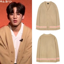 [VOIEBIT] V565 LINE COLOR POINT OVERSIZE CARDIGAN_PRODUCE X 101