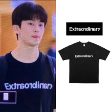 [EXTRAORDINARY] BASIC LOGO SS TEE BLACK_NCT