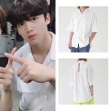 [MASSNOUN] TWO POCKET SOFT OVERSIZED SHIRTS MSEST006-WT_X1