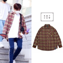 [ROMANTICCROWN] RMTCRW CHECK SHIRT BEIGE_PRODUCEX