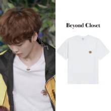 [BEYONDCLOSET] ILP MARINE DOG SIGNATURE 1/2 T-SHIRTS WHITE_X1