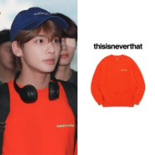 [thisisneverthat] 3D LOGO CREWNECK ORANGE_TXT
