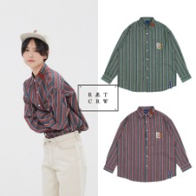 [ROMANTICCROWN] 90'S STRIPED SHIRT 2COLOR