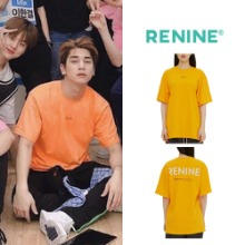 [RENINE]LARGE LOGO TEE ORANGE X1