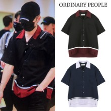 [ORDINARYPEOPLE] ORDINARY COLOR BLOCK HAWAIIAN SHIRT 2COLOR_NCT