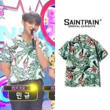 [SAINTPAIN] SP FLOWER HAWAIIAN SHIRT-MINT_SEVENTEEN