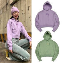 [HIGHSCHOOLDISCO] LIPS CROP HOODIE 2COLOR