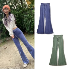 [HIGHSCHOOLDISCO] VELVET BOOTCUT PANTS 2COLOR
