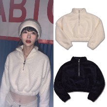 [HIGHSCHOOLDISCO] BUTTERFLY POINT FUR CROP 3COLOR