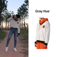 [GRAYHUE] CREST CRICKET SWEATER 2COLOR_X1