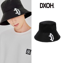 [DXOH] SMILE BUCKET HAT BLACK