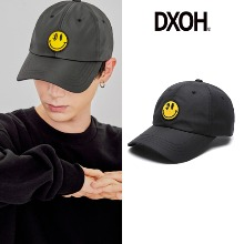 [DXOH] YELLOW SMILE BALL CAP BLACK