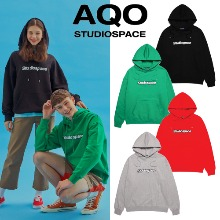 [AQOSTUDIO] AQO HOODIE WITH LOGO 4COLOR