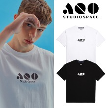 [AQOSTUDIO] AQO BLOCK LOGO T-SHIRTS 2COLOR