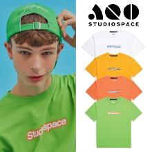 [AQOSTUDIO] AQO T-SHIRTS WITH LOGO 4COLOR