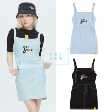 [ROMANTICCROWN] GNAC OVERALL COTTON DRESS 2COLOR