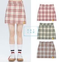 [ROMANTICCROWN] GNAC CHECK WRAP SKIRT 3COLOR