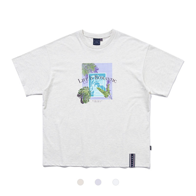 [ROMANTICCROWN] TROPICAL POOL TEE 3COLOR